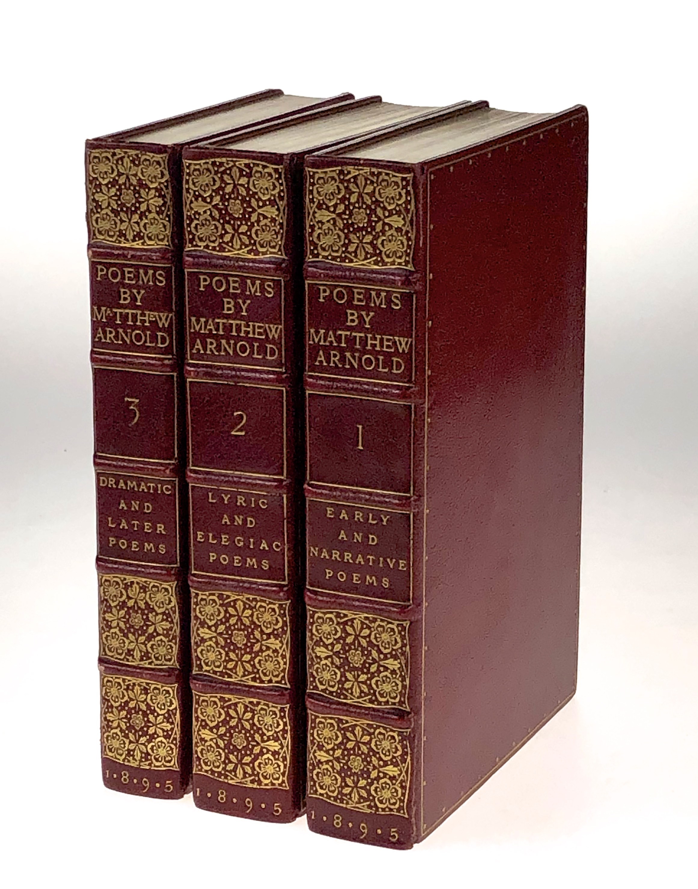 Three Matthew Arnold Volumes in Doves Binding