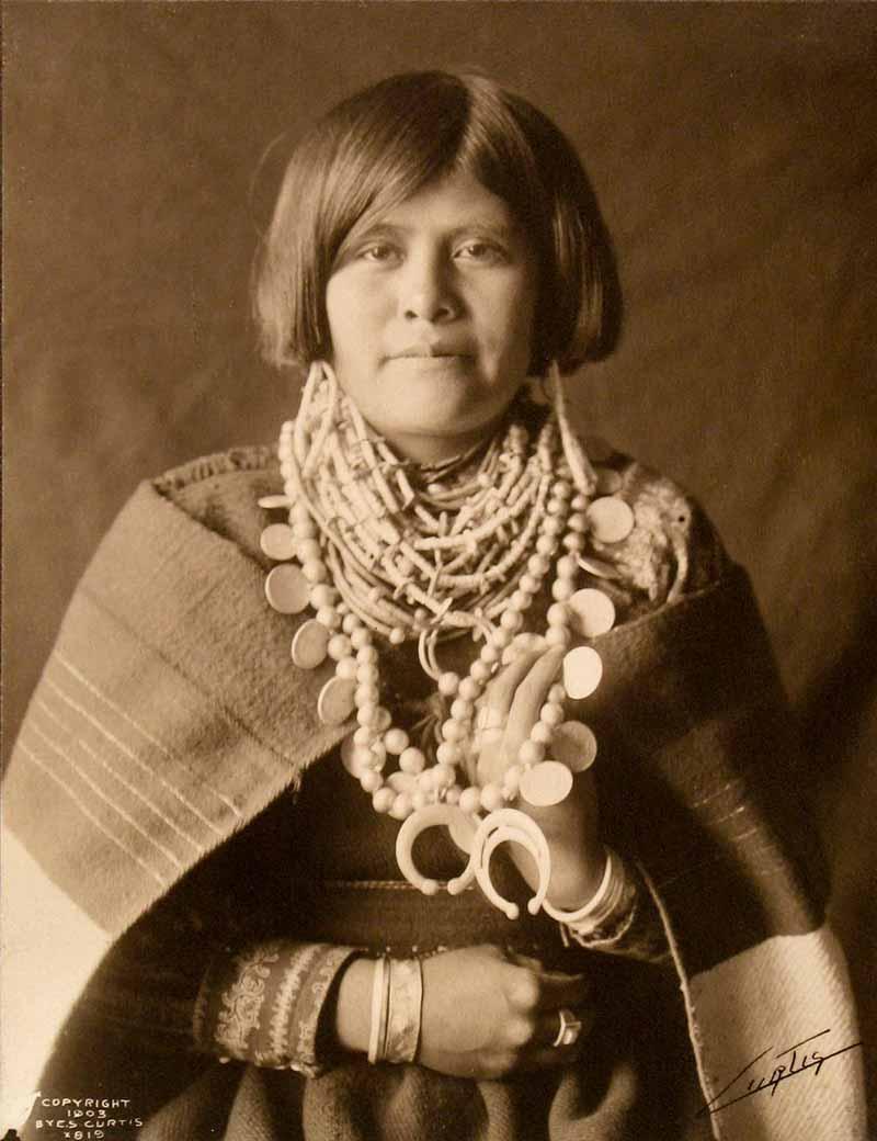Platinum Prints - A Zuni Girl