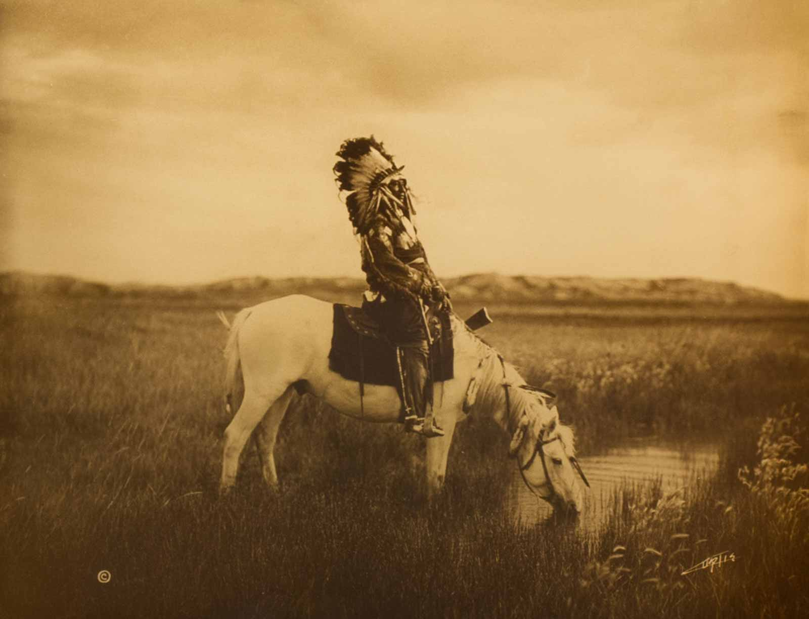 Photogravure - An Oasis in the Badlands - Sioux
