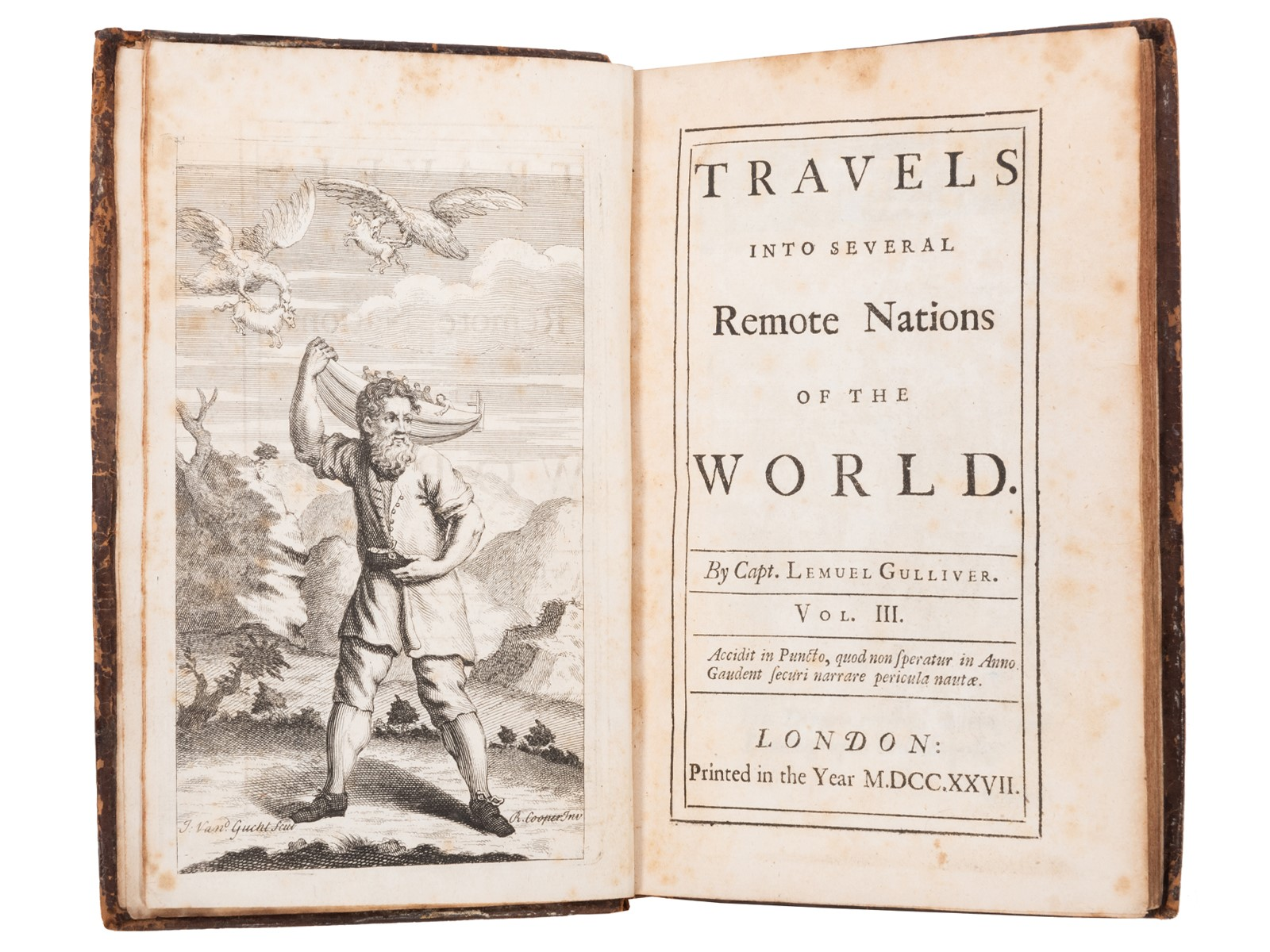 Jonathan Swift's Travels into Several Remote Nations of the World By Capt. Lemuel Gulliver. Vol. III