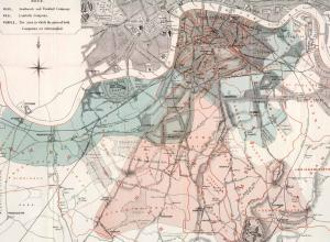 Dr. John Snow used this map to further demonstrate that cholera was not caused by foul city air but by something in the water.