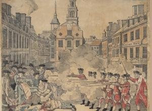 "Paul Revere's ""The Bloody Massacre"" print"