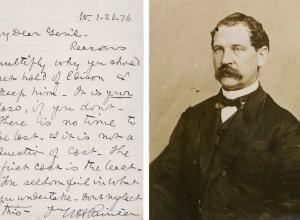 Thomas Eckert letter and portrait