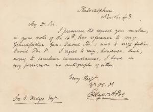 Poe letter 1843
