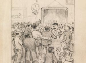 O. Henry illustration for a never-published mining memoir