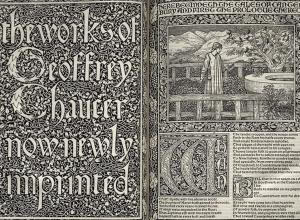 Kelmscott Chaucer opening spread