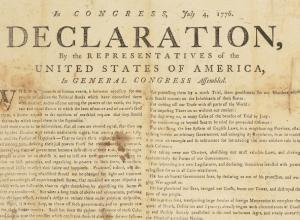 Declaration of Independence 1776 printing