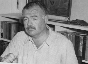 Ernest Hemingway at his home Cuba