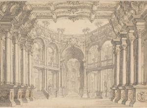 Carlo Galli Bibiena, A Colonnaded Stage Set