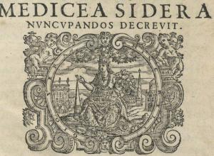 Printer's device from Sidereus nuncius, 1610