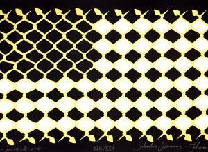 """""""La jaula de oro"""" silkscreen print by Salvador Jiménez-Flores"""