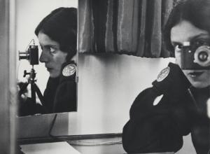 Ilse Bing, Self-Portrait with Leica