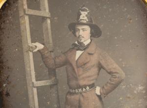 Daguerreotype of firefighter Walter Van Erven Dorens