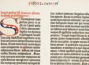 Gutenberg Bible leaf detail