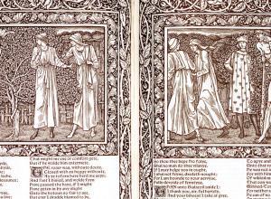 Kelmscott Chaucer illustration
