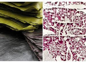 Mark Hark handmade paper and Sonja Peterson cut paper