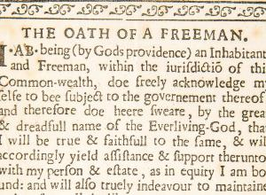 The Oath of a Freeman detail