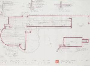 Architectural plans for Frank Lloyd Wright's last Usonian house in Wausau, Wisconsin
