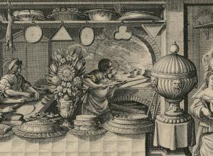 Abraham Bosse engraving, The Pastry Chef