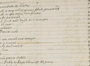 Manuscript recipe book of Ann Broke