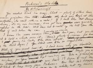 "Lovecraft Manuscript ""Pickman's Model"""