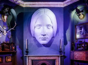 Mary Shelley mask at the House of Frankenstein