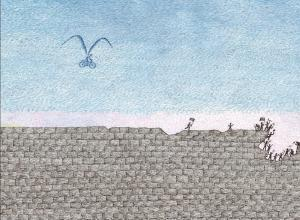 Illustration from The Wall: Growing Up Behind the Iron Curtain by Peter Sís
