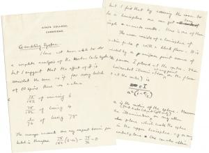 Alan Turing letter to Alfred Beuttell