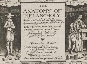 Anatomy of Melancholy title page