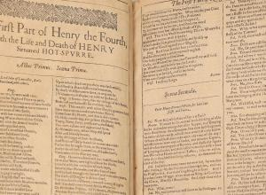 First Folio fragment Henry the Fourth