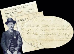 Wyatt Earp autograph