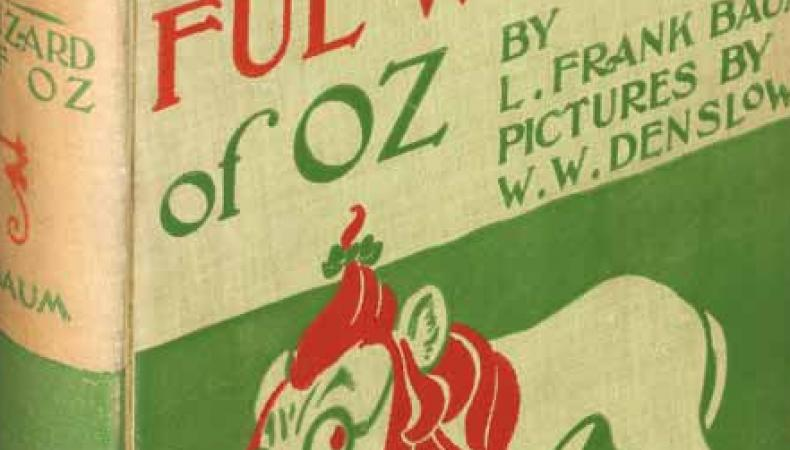 A first edition of L. Frank Baum's The Wonderful Wizard of Oz (1900), estimated at $20,000 and up.