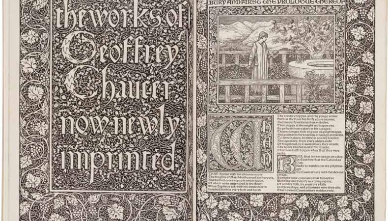 The Kelmscott Press edition of The Works of Geoffrey Chaucer (1896).