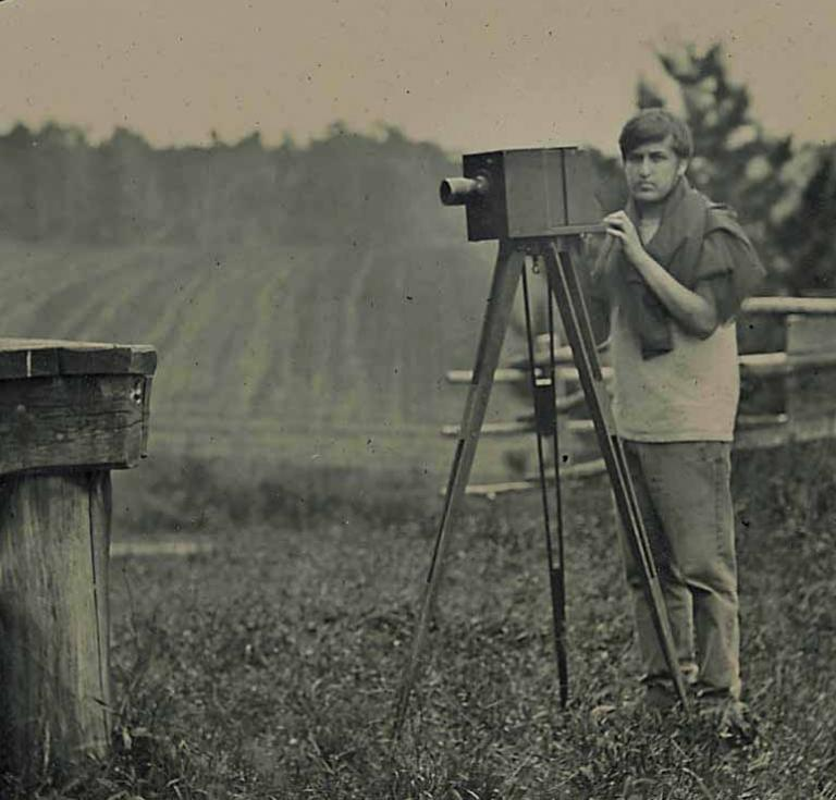 Sam Dole attended Camp Tintype with his father and now teaches nineteenth-century photo processes at the Penumbra Foundation in New York City.