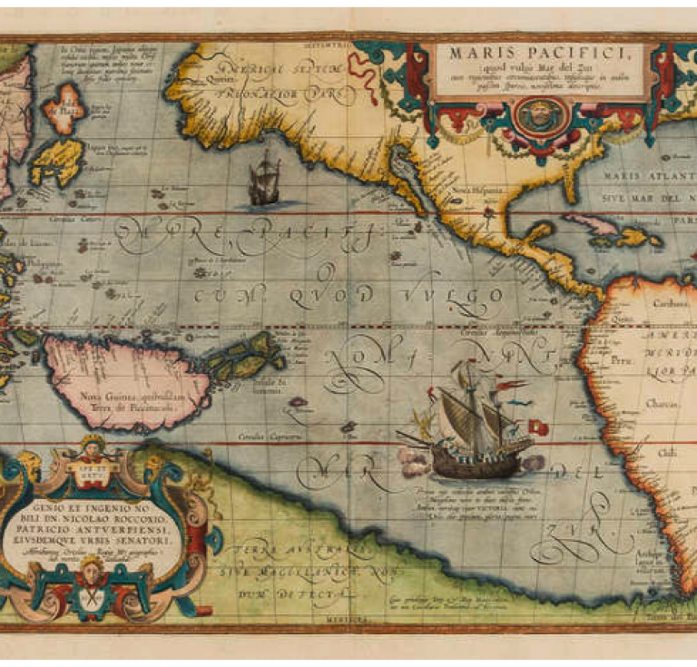 1589 map of the Pacific