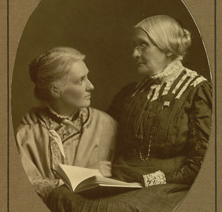 Susan B. Anthony and Anne Fitzhugh Miller