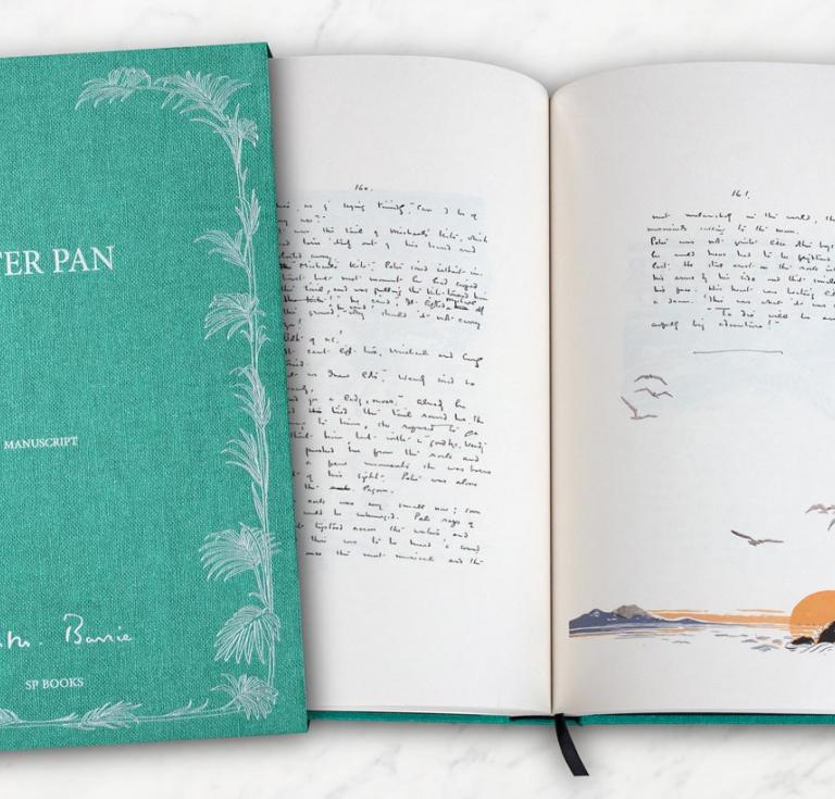 Manuscript facsimile of Peter Pan