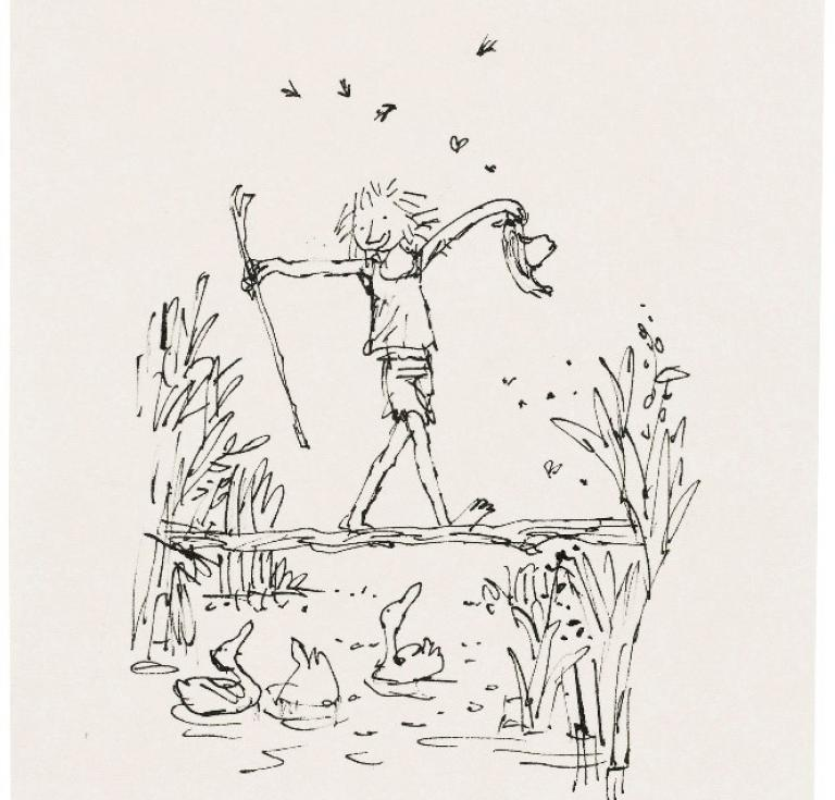 Quentin Blake Crossing the stream