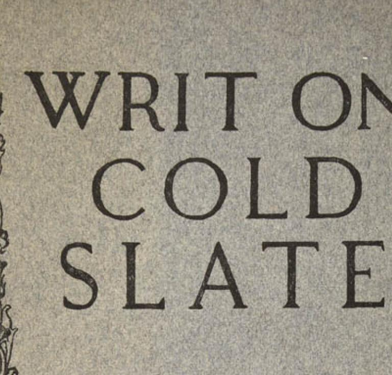 Writ on Cold Slate by Sylvia Pankhurst