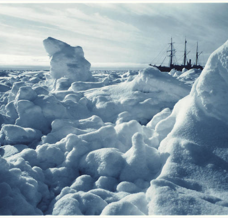 Frank Hurley photograph of ice