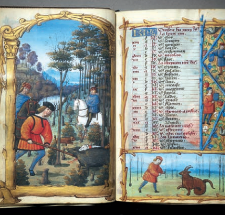 Illuminations from the Heures de G et H