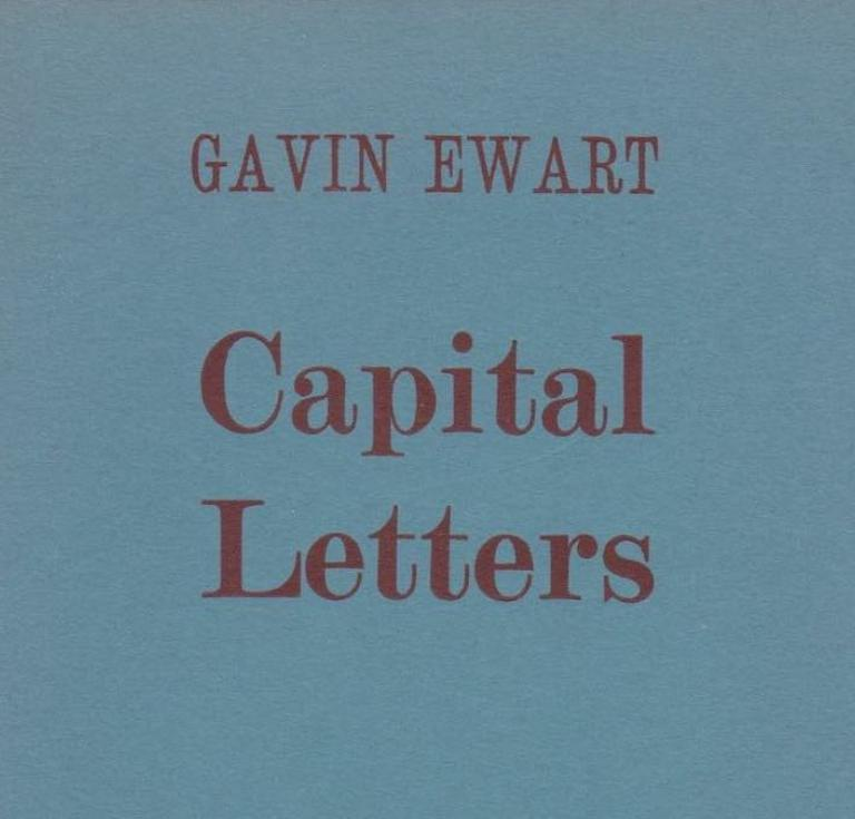 Capital Letters by the poet Gavin Ewart
