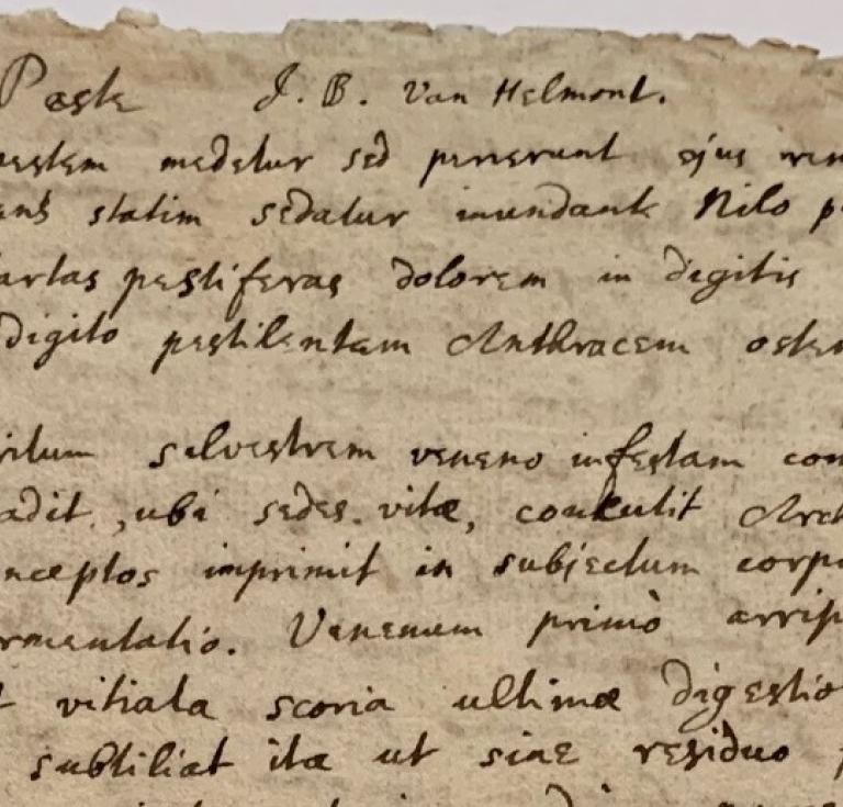 An extract from Sir Isaac Newton's notes on the plague