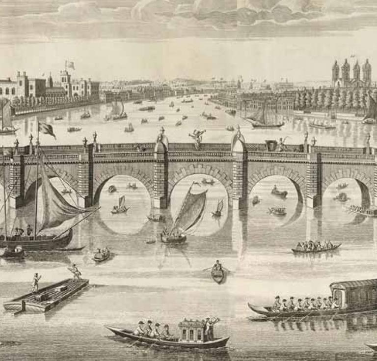 1747 engraving of Westminster Bridge