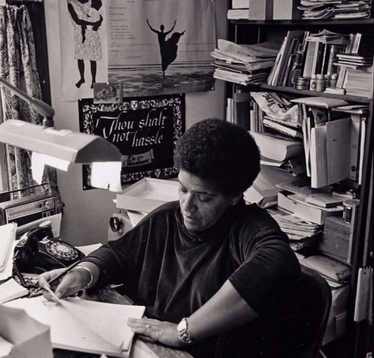 Audre Lorde in Her Home Study