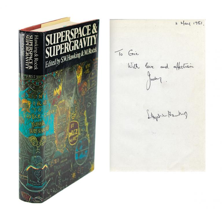 Stephen Hawking signed book