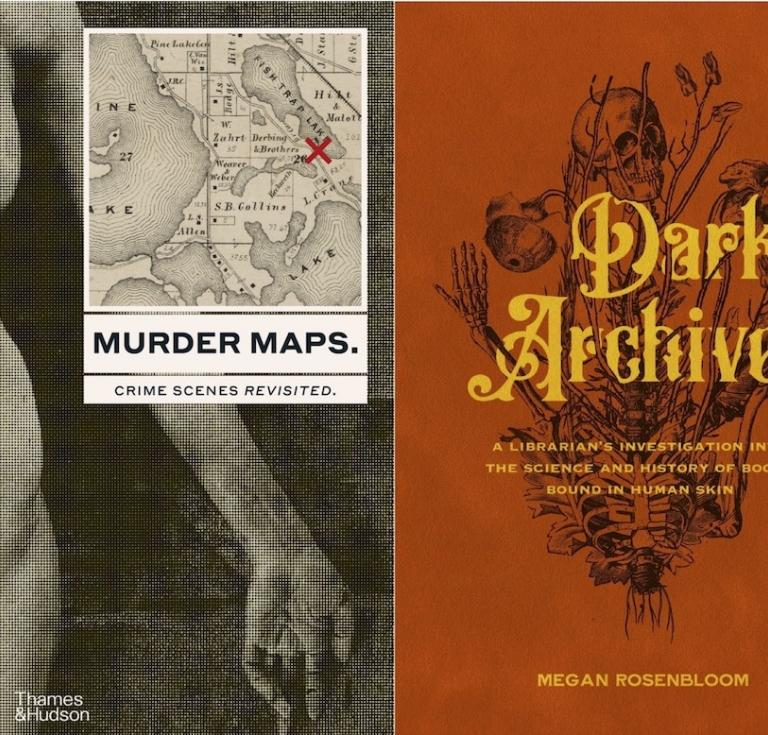 Book covers Murder Maps, Dark Archives