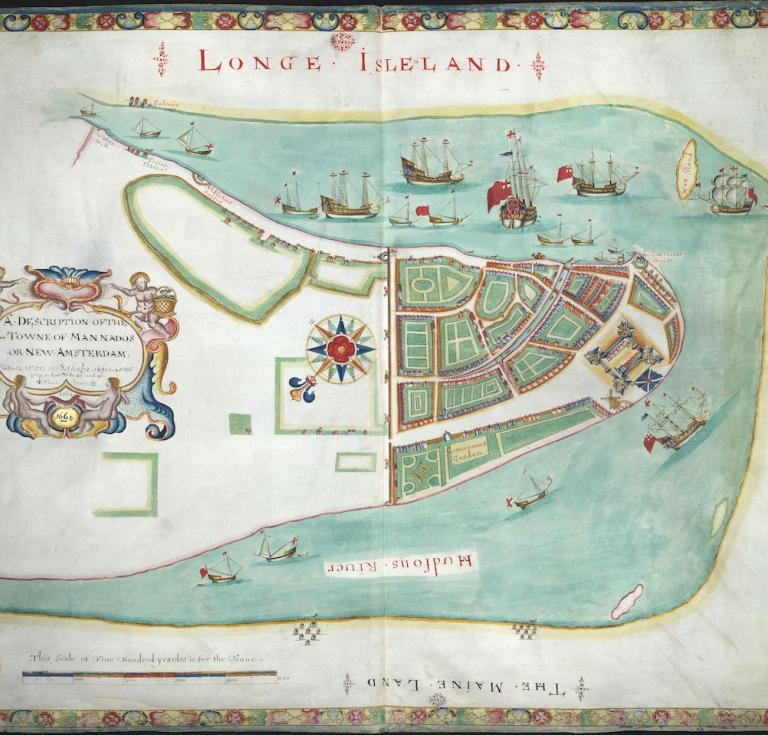 Map of NYC, 1664