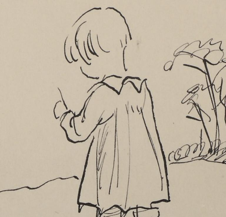 Sketch of Christopher Robin by E.H. Shepard