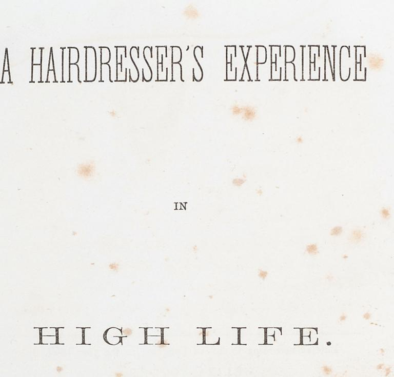 Hairdessing book 1859